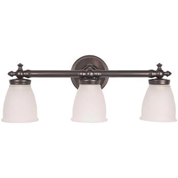 Checkolite 17063 34 delta victorian 3 light vanity with - Victorian bathroom lighting fixtures ...