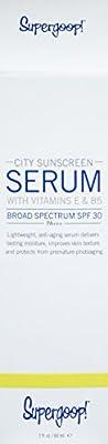 Supergoop! SPF 30 Anti-Aging City Sunscreen Serum, 2 Fl Oz