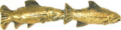 Fishing Sportsman Fish Pair 3'' Center Appliance Pull Finish: Antique Brass by Sierra Lifestyles