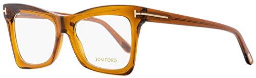 Tom Ford Rx Eyeglasses With Case - FT5457 044 - Brown Orange ()