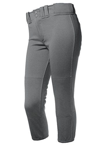Rip It Women's Classic Softball Pant with Adira (Charcoal, Large)