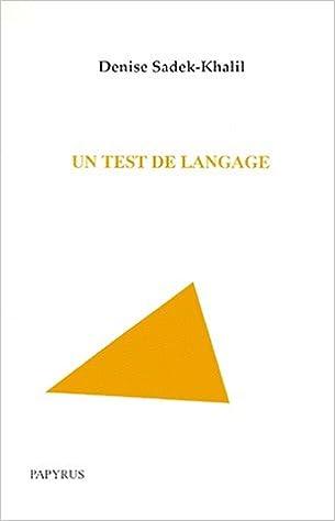 Lire Un test de langage pdf ebook