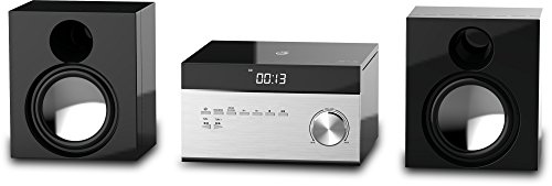 GPX HC225B Stereo Home Music System with CD Player & AM/ FM Tuner, Remote Control