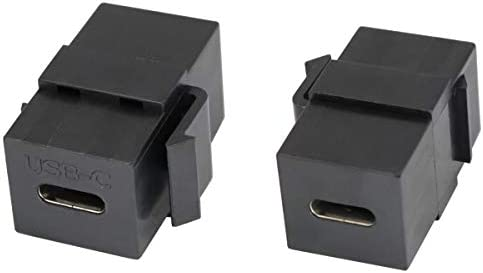 2USB 3.0 Keystone Jack Female Coupler Insert Adapter For Wall Plate Outlet Panel