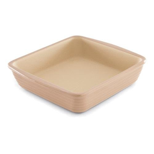 Covered Square Baker Stoneware (PAMPERED CHEF SQUARE BAKER #1363 TAUPE - NEW OUT 2011 - 9 X 9)