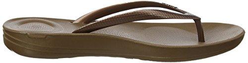 para Mujer Brown Abierta Fitflop con Iqushion Ergonomic Sandalias Flip Punta 012 Bronze Flops 868pwqH