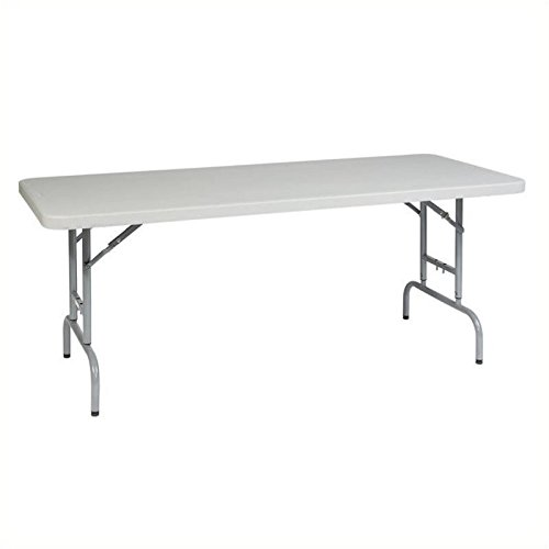 Office Star Resin Multipurpose Rectangle Table, 6-Feet Long, Height (Adjustable Resin)
