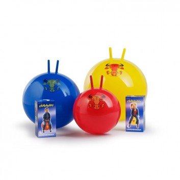 Hüpfball Sprungball Original Pezzi Globetrotter für Kinder und Erwachsene, berstsicher (blau 53 cm  Alter 6 +)