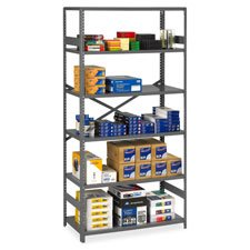 Tennsco ESP62436MGY Commercial Steel Shelving, Six-Shelf, 36w x 24d x 75h, Medium -