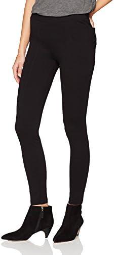 Daily Ritual Women's Seamed Front, 2-Pocket Ponte Knit Legging