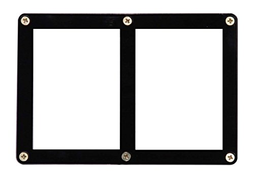 Ultra Pro 2-Card Black Frame Screwdown Holder