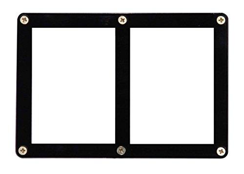 (Ultra Pro 2-Card Black Frame Screwdown Holder)