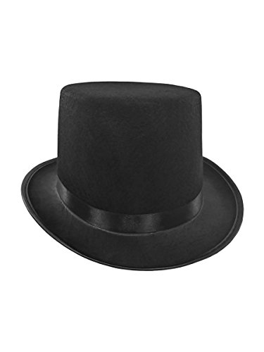 Mens Short Black Top Hat Cap Topper Steampunk Victorian Charles Dickens