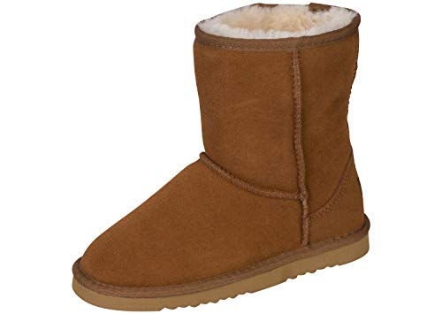 Kemi Kid's Classic Bella Short Winter Boots - Fashion Winter Boots for Girls, Rust, US Size 1, Little Kid ()