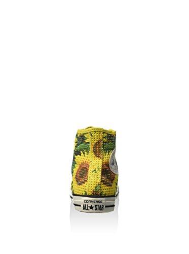Converse Zapatillas abotinadas All Star Hi Can Perf Print Amarillo EU 35 (US 5)