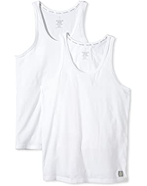 Calvin Klein Mens One Cotton Tank (2 Pack)