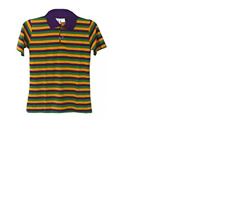 Mardi Gras Tinsel Wig (Mardi Gras Thin Striped Kids Short Sleeve Polo)