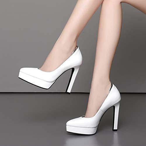 Blanc Vaneel 12cm Bout Vadxpt B Sur nbsp;pointu Chaussures Glisser Escarpins Femme TSwzT6