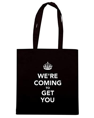 Borsa Shopper Nera TKC1659 WE'RE COMING TO GET YOU