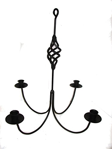 Wrought Iron 4 Arm Candle Chandelier w/ Birdcage Center ()