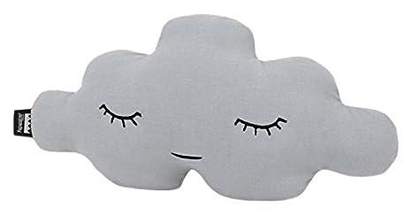 Paparajote Factory Cloud XS Paloma Cojín de algodón con Forma de Nube, 35 x 19 cm, Gris, 35 x 12 x 19 cm