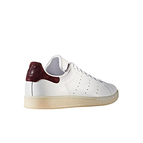 Uomo Ftwr Sneaker Smith a Stan F12 White Dark Basso Ftwr White Burgundy Collo adidas Wei wRaYqfnWax