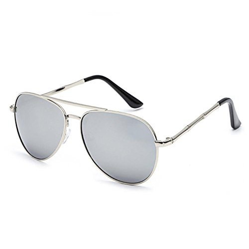 Transer Twin-Beams Geometry Design Women Metal Frame Mirror Sunglasses Cat Eye Glasses - D Frames G &