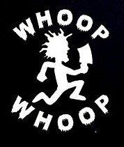 Juggalo Whoop Whoop ICP Insane Clown PosseDecal Vinyl Sticker|Cars Trucks Vans Walls Laptop| WHITE |5.5 x 4.5 in|CCI775