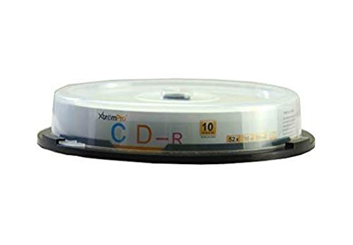 XtremPro CD-R 52X 700MB 80Min CD 10 Pack Blank Discs in Spindle - 11035 Portable Easy to Use