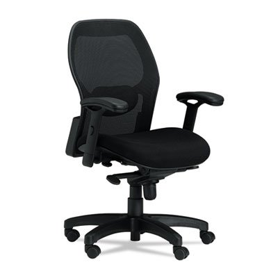 MAYLINE COMPANY Mercado Mid-Back Mesh Chair, Mesh Back/Fabric Seat, Black, Sold as 1 (Mayline Fabric Chair)