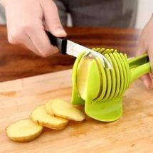 Laytek Tomato Slicer, Multi-functional Handheld Tomato Round Slicer, Fruit Vegetable Cutter, Lemon Shredders Slicer, With the Special Hook by Laytek (Image #4)