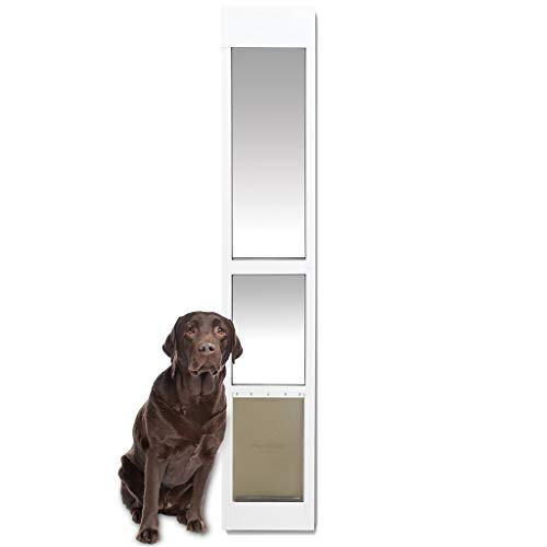 PetSafe Sliding Glass Cat and Dog Door Insert - Great for Apartment and Patio Slider Doors - Large Pets