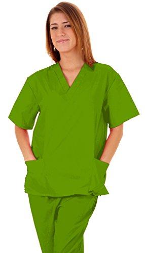 M&M SCRUBS Women Scrub Set Medical Scrub Top and Pants L Lime Green