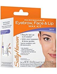 Sally Hansen Microwaveable Eyebrow, Face & Lip Wax Kit (Pack of 5)