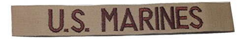 USMC Branch Tape, Sew-On (without Fastener), Desert for sale  Delivered anywhere in USA
