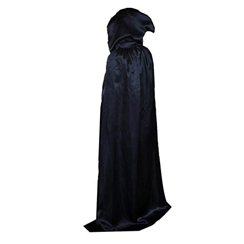 Party Diy Decorations - 1pc 4 Sizes Halloween Adult Magic Wizard Witch Hooded Cloak Floor Length Costume Masquerade Festival - Cosplay Batgirl House Decor Witch Year Witches Dress For Candy