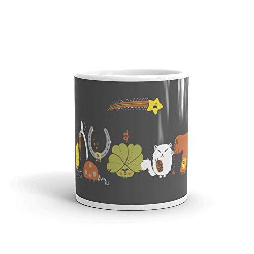 Luckiest Ever Mug 11 Oz White Cool Design Tea Coffee Cup