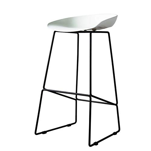 75cm Bar Stool Kitchen Pub Counter Chairs with Metal Frame High Stools Suitable for Bar Height 90cm-D