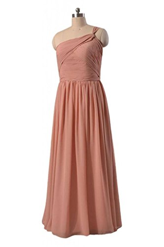 silver Chiffon Women Dress Shouleder Evening One 57 Bridesmaid BM1531B Dress DaisyFormals Long HwPUfx