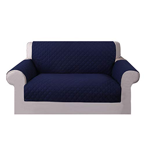 - Beacon Pet New One-Piece Non-Slip Sofa Slipcover Cover Furniture Protector for 1/2 Seat (Two Seat - Navy Blue)