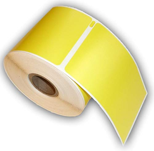 10 Rolls of Yellow Raptor Compatible ID Badge Labels - 2 5/16 x 4