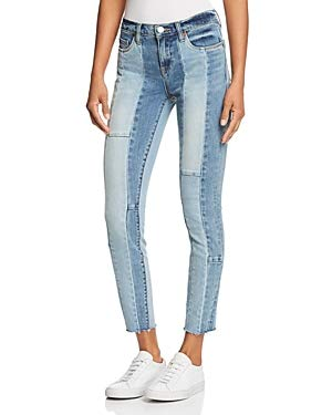 [BLANKNYC] Women's Contrast Patchwork Jeans in Midtown Madness (Blue) (24) ()