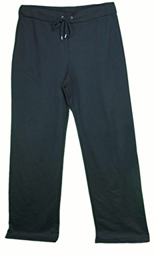 Anne Klein Sport Ladies Size Medium French Terry Active Pants Swiss Navy Blue