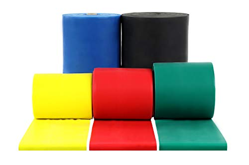 rcise Band, 50 yard roll, 5 Piece Set (Tan, Yellow, Red, Green, Blue, Black, Silver, Gold) ()
