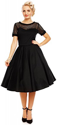 Dolly Häkelspitze Schwarz Swing Damen Dress Tessa And Kleid Dotty rCxwXzrqA