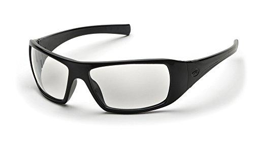 Pyramex Goliath Safety Eyewear Black Frame/Clear - Sunglass Optical Warehouse