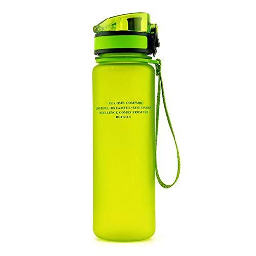 Water Bottle Bpa Free 1000Ml Gourde Plastic My Tritan Sport Bottles Drinking Protein Shaker Hiking Bottle For Water,350Ml,Green