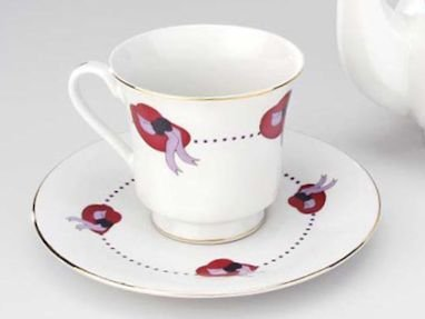 Amazoncom 48 Bulk Discount Red Hat Tea Cups Teacups and Saucers
