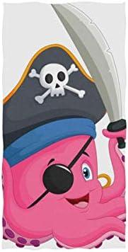 EXking Cartoon Piraat Octopus Handdoeken voor Badkamer Decoratieve GastHanddoeken Multifunctioneel voor Gym en Hotel