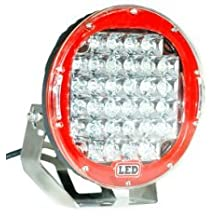 APHRODITE 1PC 9 Inch 96W Red Color CREE LED Work Light Offroad JEEP Waterproof Lamp